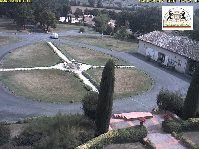 Webcams en direct ch�teau de Barbet, Lombez, France